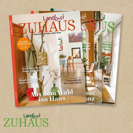 Landlust Zuhaus. Die Zeitschrift für kleine und große Wohnideen. Hier gehts zum Aboshop.